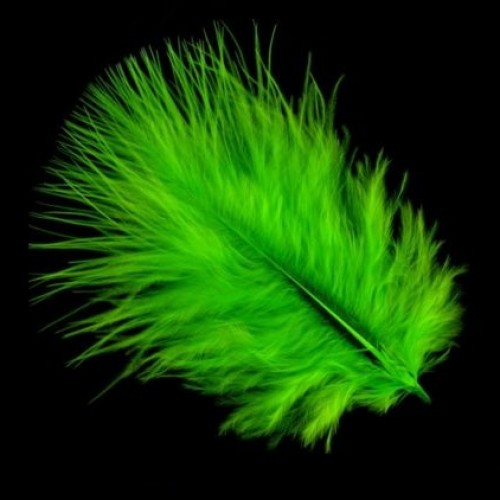 Marabou-Green-Feathers